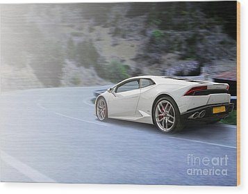 Huracan Wood Print by Roger Lighterness