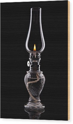 Hurricane Lamp Still Life Wood Print by Tom Mc Nemar