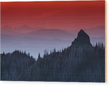 Hurricane Ridge Sunset Vista Wood Print by Mark Kiver