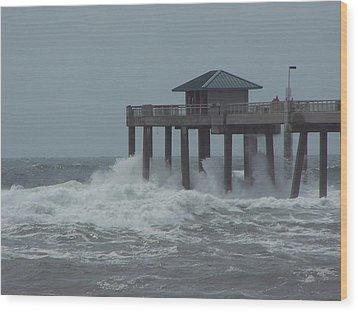 Wood Print featuring the photograph Hurricane Rita 2 by Michele Kaiser