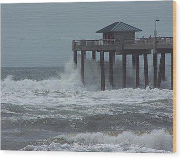 Wood Print featuring the photograph Hurricane Rita by Michele Kaiser