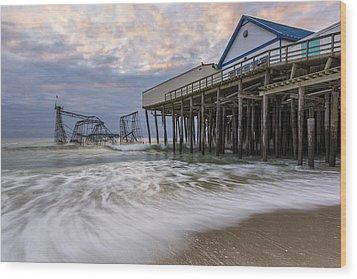 Hurricane Sandy Wood Print by Mike Orso