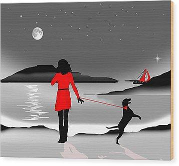 Hurry Back Darling Wood Print by Peter Stevenson