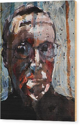 Husdant Portrait Wood Print by Jim Vance