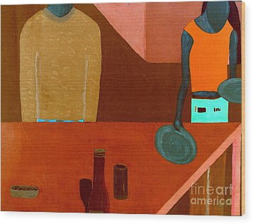 Hussongs Cantina Baja Wood Print by Bill OConnor