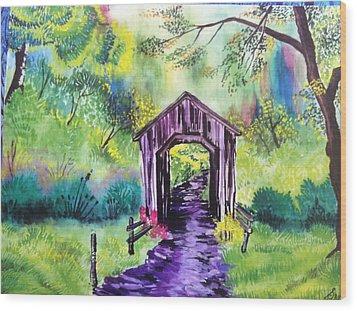 Hut  Wood Print by Sumit Jain
