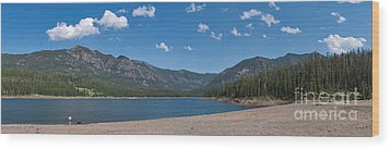 Wood Print featuring the photograph Hyalite Reservoir -- East View by Charles Kozierok