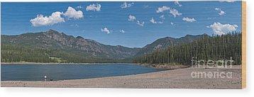 Hyalite Reservoir -- East View Wood Print by Charles Kozierok