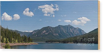 Wood Print featuring the photograph Hyalite Reservoir -- South View by Charles Kozierok