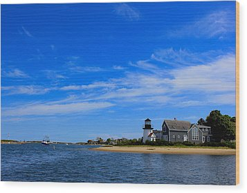 Wood Print featuring the photograph Hyannis Harbor by Amazing Jules