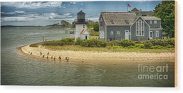 Hyannis Lite Hdr Wood Print by Jack Torcello