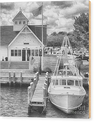 Hyannis The Coastguard's Cutter Wood Print by Jack Torcello