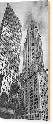 Hyatt And Chrysler Wood Print by David Bearden