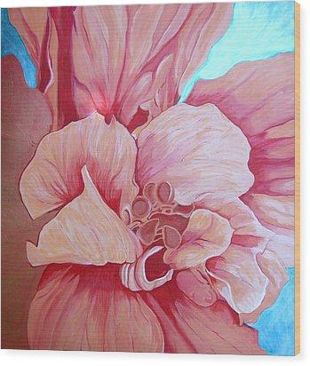 Hybiscus Wood Print
