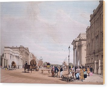 Hyde Park Corner, Looking Wood Print by Thomas Shotter Boys