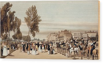 Hyde Park, Towards The Grosvenor Gate Wood Print by Thomas Shotter Boys