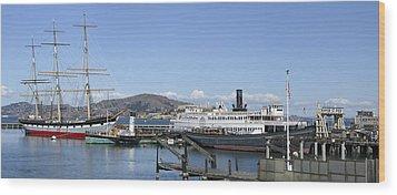 Hyde Street Pier - San Francisco Wood Print by Daniel Hagerman