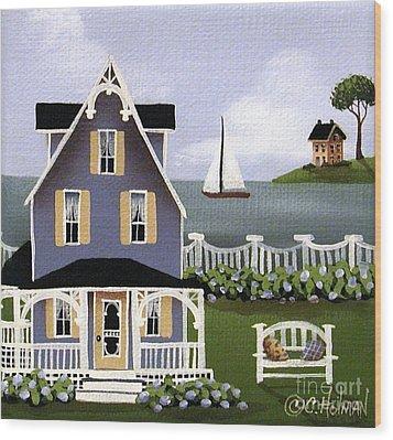 Hydrangea Cove Wood Print by Catherine Holman
