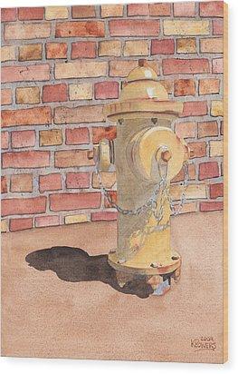 Hydrant Wood Print by Ken Powers
