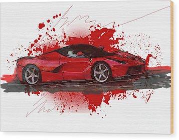 Hyper Car Wood Print
