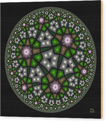 Hyperbolic Neural Net Wood Print