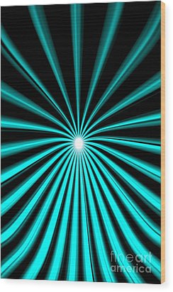 Wood Print featuring the painting Hyperspace Cyan Portrait by Pet Serrano