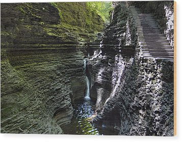 Wood Print featuring the photograph Hypnotic Magic Of Watkins Glen  by Gene Walls