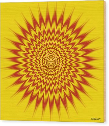 Hypnotic Vibes Wood Print