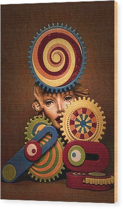 Hypnotic Woman 1 Wood Print by Jeff  Gettis