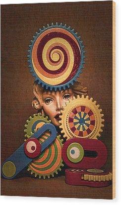 Hypnotic Woman 1 Wood Print