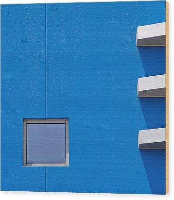 I Am Blue Wood Print by Mihai Florea