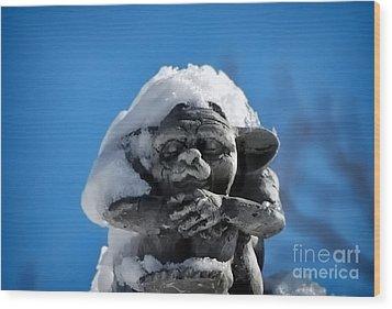 I Am Cold Wood Print by Alexandra Jordankova