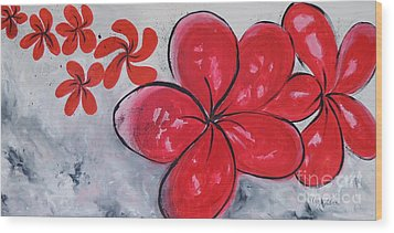 I Am Red Wood Print by Lyn Olsen