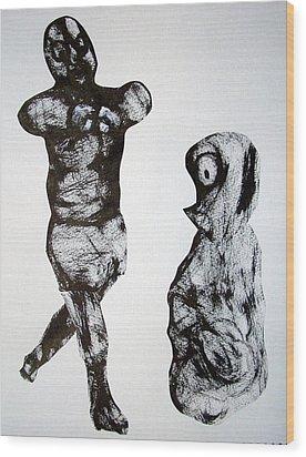 I Am The Champion Wood Print by Aquira Kusume