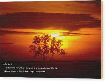 I Am The Way John 14-6 Wood Print by Jeff Swan