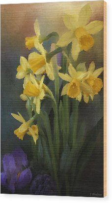I Believe - Flower Art Wood Print by Jordan Blackstone