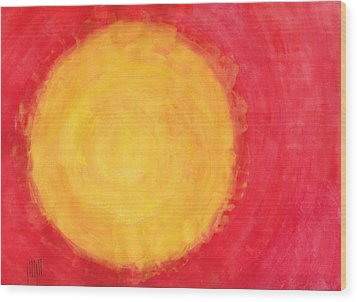 I Don't Mind The Sun Sometimes Wood Print