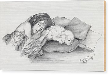 I Dont Need A Nap Mom Wood Print by Suzanne Schaefer