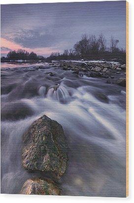 I Follow River Wood Print by Davorin Mance
