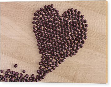 I Heart Chocolate Wood Print