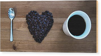 I Love Coffee Wood Print by Nicklas Gustafsson