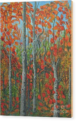 I Love Fall Wood Print