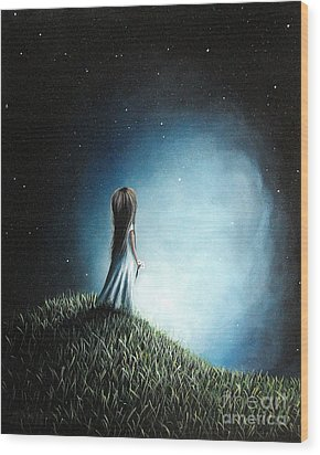 I Love Her So Much I Cry By Shawna Erback Wood Print by Shawna Erback