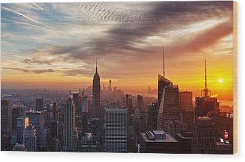 I Love New York Wood Print by Maico Presente