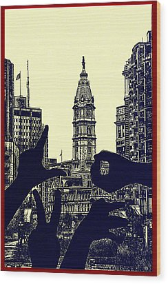 I Love Philly Wood Print by Bill Cannon