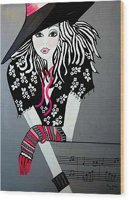 I Love Rock And Roll Wood Print