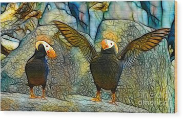 I Love So Much Wood Print by Francine Dufour Jones