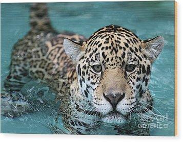 I Love The Water Wood Print