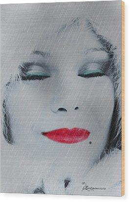 I Love To Smell Fresh Rain Wood Print by EricaMaxine  Price