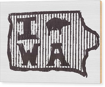 I Pig W A Wood Print by Jame Hayes
